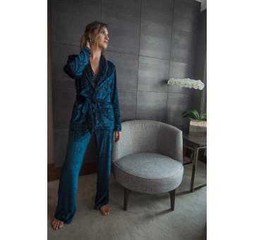 Pijama Luxo Veludo Devorê