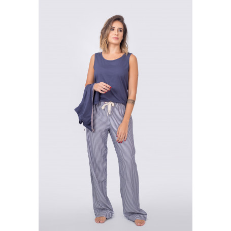 Pijama 3 peças com Regata e Cashecoeur