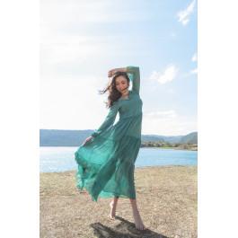 Long Dress Fée Green