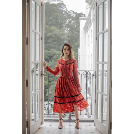 Vestido Renda Burle Marx